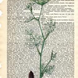 Dictionary Book Page Art print Dill herb