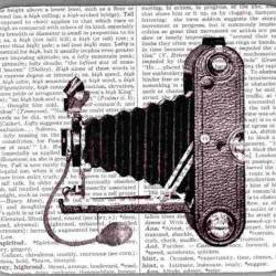 Mouse Pad Vintage Camera Dictionary Book Page decorative unique