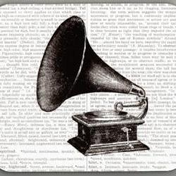 Mouse Pad Vintage 1911 Phonograph Dictionary Book Page decorative unique