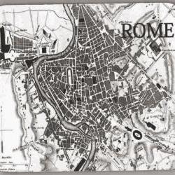 ROME Map Vintage Image Mouse Pad